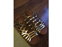 Gold Dorothy Perkins sandals