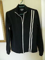 Jacob Connexion Womens Black/Ivory Stretch Sweater/Jacket..XL