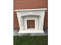 fire surround stone, includes back and hearth