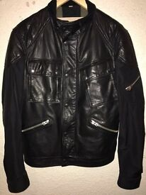 Men's leather Burberry jacket