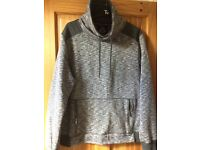 Grey cowl neck top Mens size XXL