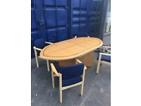 1 x conference meeting table inc 4 chairs Super bargain Christmas sale clearance @ just £40