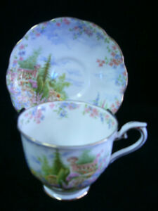VINTAGE ROYAL ALBERT KENTISH ROCKERY CUP 'N SAUCER