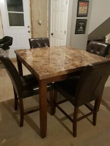 Counter Height 5 Piece Dining Set -  New Condition