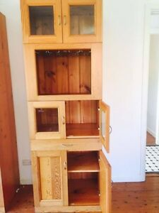 TWO WOODEN CABINETS Yowie Bay Sutherland Area Preview
