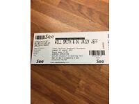 Two tickets - Will Smith & DJ Jazzy Jeff
