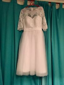 Vintage tea wedding dress