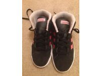 Girls Adidas high tops trainers size 2