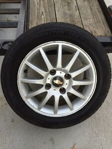 Chevy rims and tires  4 bolt Windsor Region Ontario image 1