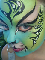 Mai, the artist...face and body painting and mural painting