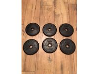 Decathlon Domyos x6 2kg 28mm Rubber Weight Discs - New - Price is for all 6