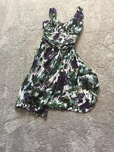multi coloured knee length party dress