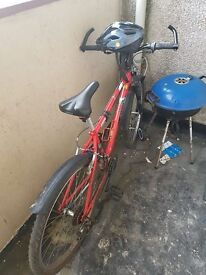 Bike (including lock, oil and helmet ) for sale