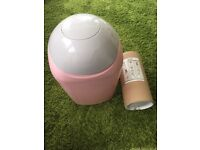 Tommee Tippee Sangenic Tec Nappy Disposal Tub (Pink) plus 200 m refill bags!