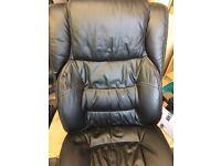 Desk chair faux leather