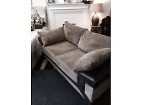3+2 beige and brown leather sofas £250 can be delivered