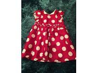 Pretty pink polka dot dress age 9-12 months Jasper Conran