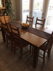 Kitchen Table + 8 chairs + Cabinet London Ontario image 2