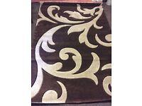 Handcrafted brown/beige rug - brand new