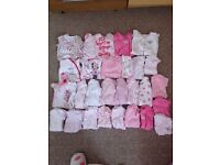 Newborn baby grows and vests