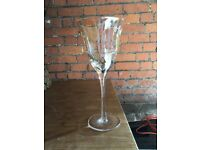 6 x NEW Virgin V wine glasses and matching tea lights - never used