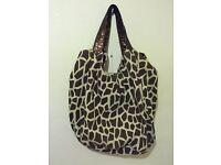Animal print beach bag