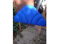 Single bed Blue head board