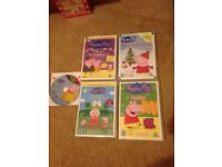 Peppa 's Christmas / the queen / new shoes / my birthday party / balloon ride DVD bundle