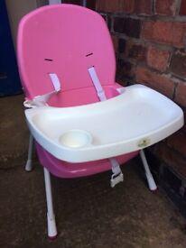 High chair small space saver