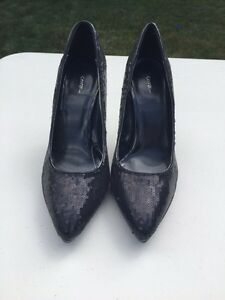 BRAND NEW BLACK SEQUIN HIGH HEELS/TALON HAUTS NEUF West Island Greater Montréal image 2