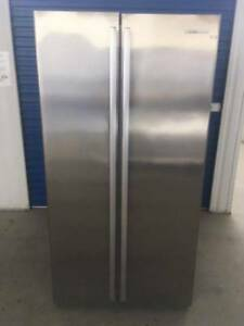 FRIDGE/FREEZER- WESTINGHOUSE 606L STAINLESS SIDE BY SIDE (Deliver