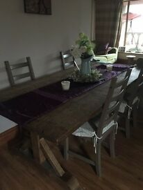 Barker & Stonehouse Solid Wood kitchen table