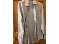 C pale blue men's shirt 15.5