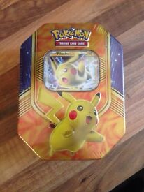 Pokemon pikachu ex Tin