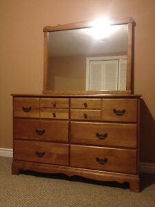 vintage walnut dresser with mirror