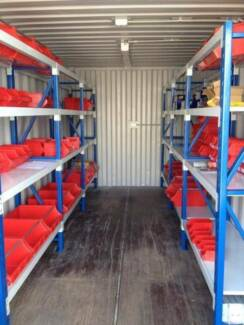 Shipping Sea Container Storage Fit Out Long Span Shelving from