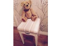 VINTAGE DRESSING TABLE STOOL SHABBY CHIC