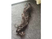 Claires Ponytail hair extensions dark brown RRP £26