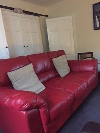 Enzo red 3 seater sofa