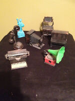 Vintage Diecast Metal Pencil Sharpeners Made in Hong Kong