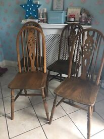 Ercol style chairs - set of four