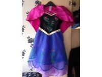 Various fancy dress costumes Anna frozen, red riding hood, pirate, tinker bell