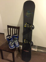 Planche a neige et bottes - Snowboard and boots