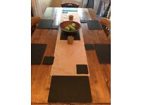 Black slate placemats set
