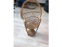 Dolls wicker chair