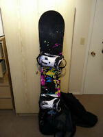 Good quality snowboard and equipment