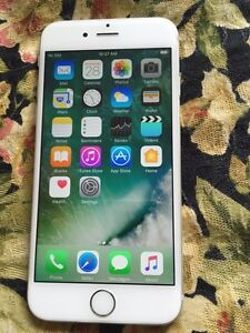 iPhone 6 silver 128 gb with Roger