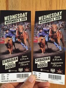 """Canadian Finals Rodeo Tickets """"Six Pack"""""""