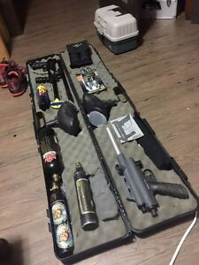 2 paintball markers & gear