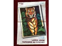 Wonderart Caron Jungle Tiger Latch Hook Rug Kit